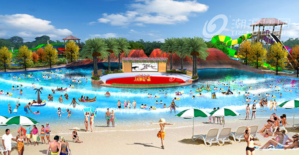 When Chenzhou, Hunan Sanhe project opened a water park!