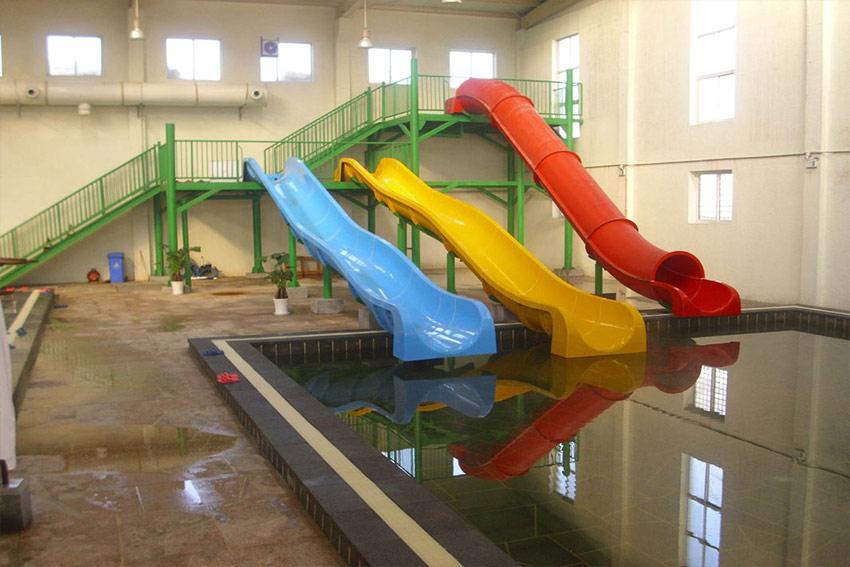 Indoor Fiberglass Kids\' Water Slides_Build a water park | Water park ...