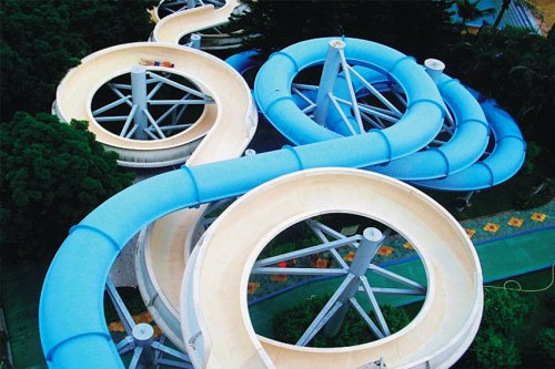 Giant Hotel Aqua Playground Friendly Water Slides For Children or Adults