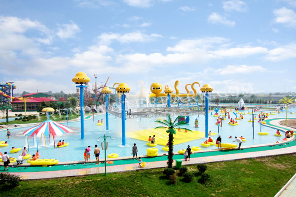 Jellyfish World Structures Outdoor Aqua Play Water Park Equipment For Family Interaction