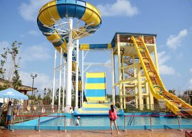 Long raft fiberglass water slide for children and adult  spir