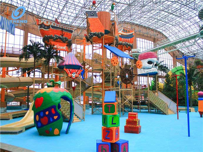 A new indoor water park in Harbin